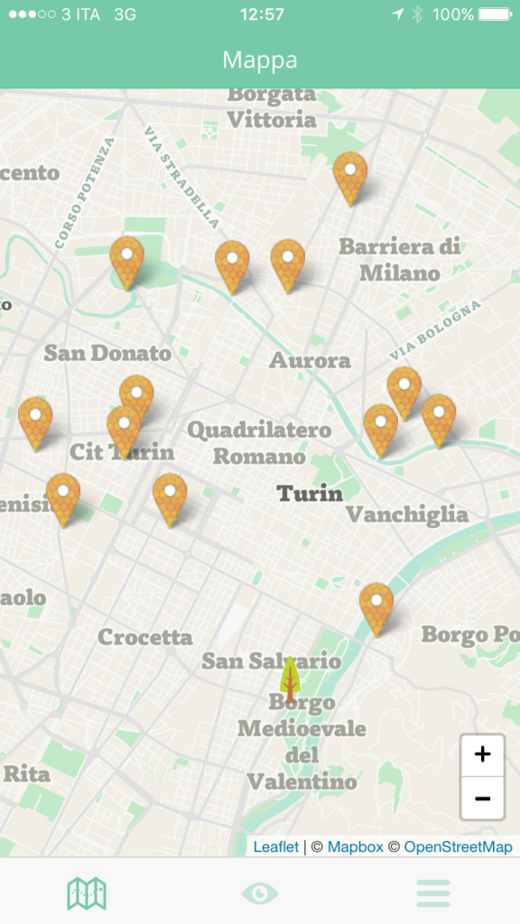 app iOs Android Tobee Augmented Reallity Geolocation Botany Libre Società Cooperativa