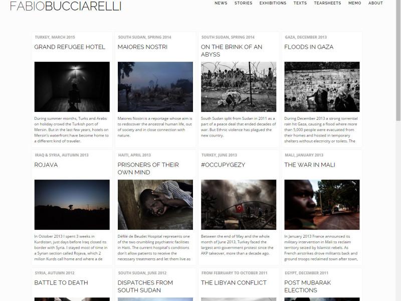 website Fabio Bucciarelli Photographer Journalist War Conflicts Libre Società Cooperativa