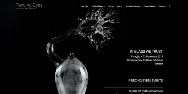 sito web Piercing Eyes Distilled Art Pieces arti applicate contemporanee Libre Società Cooperativa