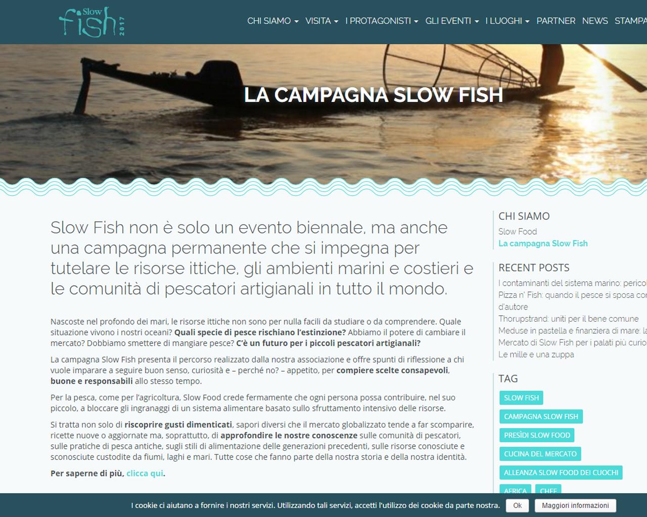 web Site Slow Fish Slow Food Libre Società Cooperativa