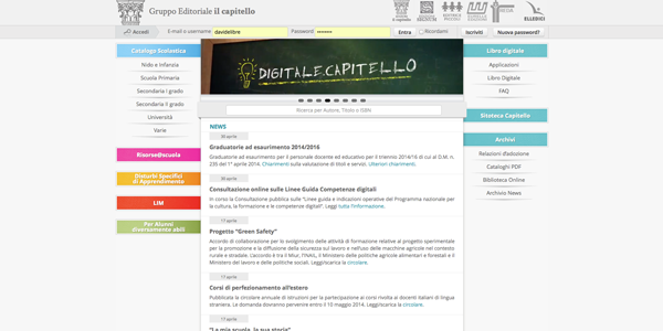 website Capitello Publisher Libre Società Cooperativa